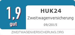 Testsiegel: HUK24 Zweitwagenversicherung