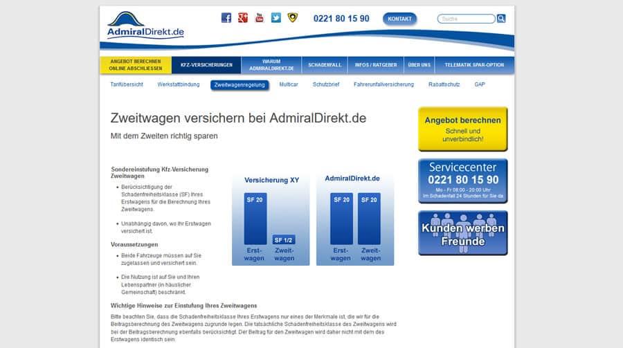 Admiral Direkt Webseite