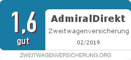 Testsiegel: AdmiralDirekt Zweitwagenversicherung