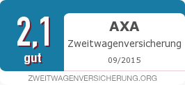 Testsiegel: AXA Zweitwagenversicherung