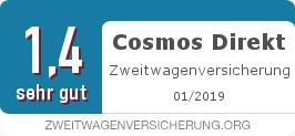 Testsiegel: Cosmos Direkt Zweitwagenversicherung