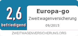 Testsiegel: Europa-go Zweitwagenversicherung