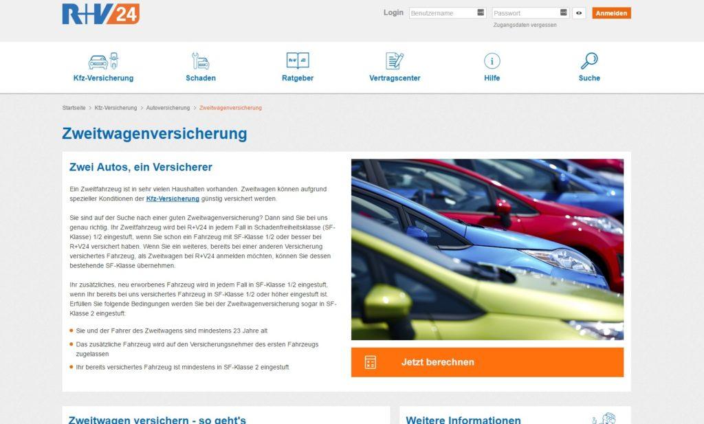 Die Webseite von R+V24